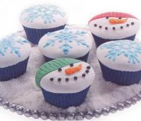 Christmas Snowman Cupcake Impression Mat set of 31